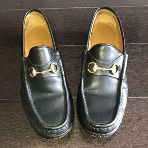 Vintage black Gucci loafers $195